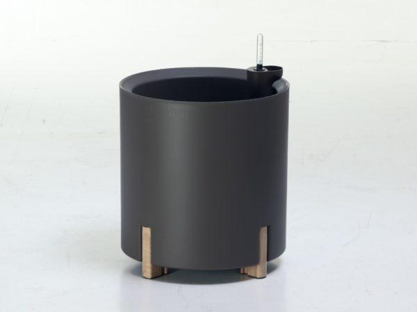 Kastmissüsteemiga taimpott hall ümar alumiinium puit jalgadega