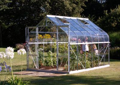 Kasvuhoone Vitavia Saturn, karastatud klaasist kattega