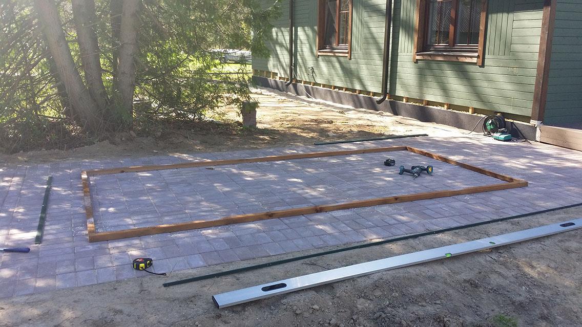 Kasvuhoone alusraam puidust prussidest