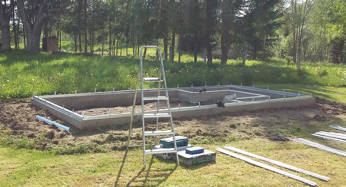 Kasvuhoone vundament betoonist