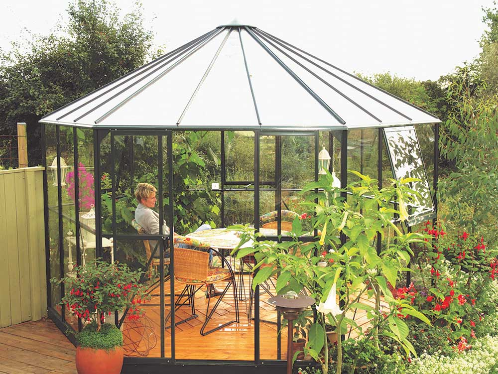 Aiamaja - kasvuhoone Hera 9000 roheline
