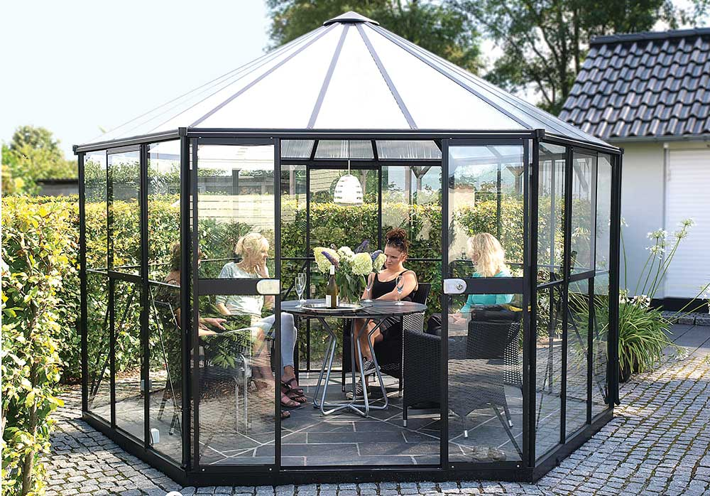 Klaasist aiamaja Vitavia Hera 9000 must