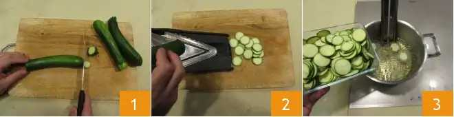 Spagetid tuunikala ja suvikõrvitsaga 1-3